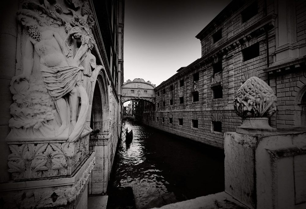 Venice Italy Limited Edition Photography Michael David Adams Photographer Gondola Bridge of Sighs
