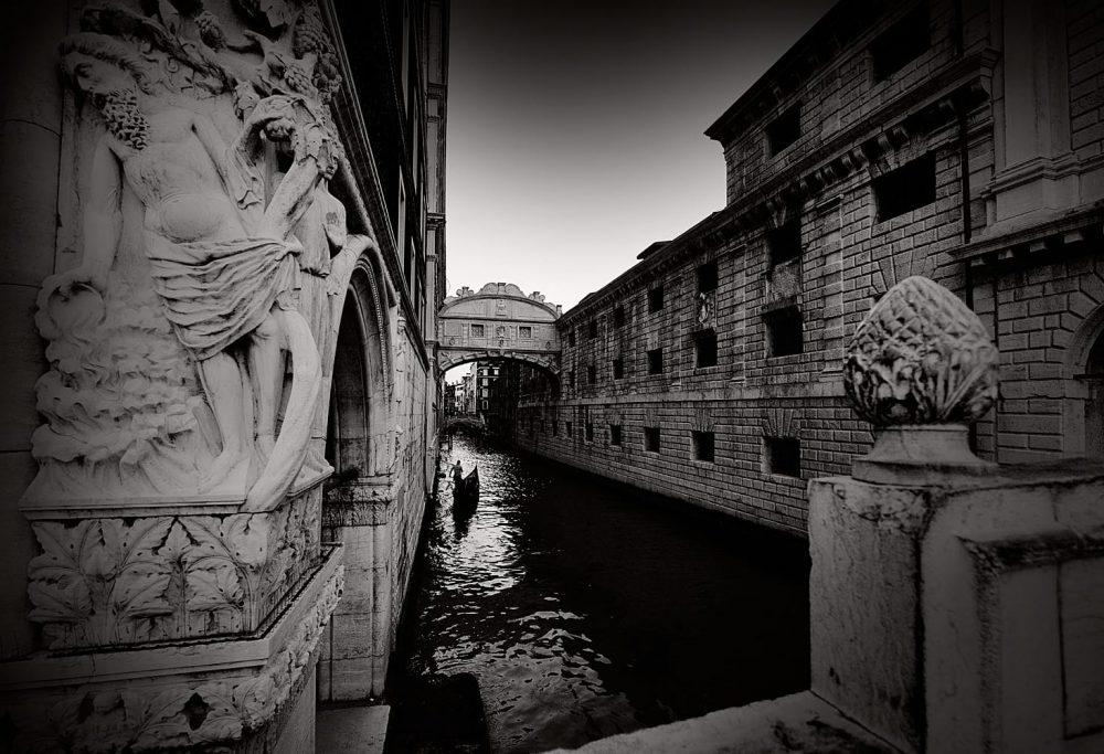 Venice Italy Limited Edition Photography Michael David Adams Photographer Gondola Bridge of Sighs